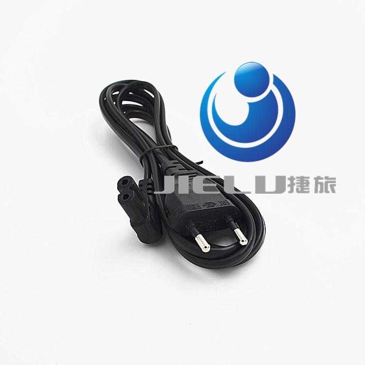 цена на 5M/16.4ft 90 degree Angle EU Plug 2 Prong to Figure 8 AC Power Cable Adapter Lead Cord,10 pcs
