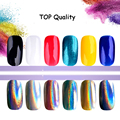 New 1g/box Colorful Laser Mirror Powder Rainbow Gradient Powder Dust Glitter Chrome Pigment Nail Art Sequins Decoration Tools