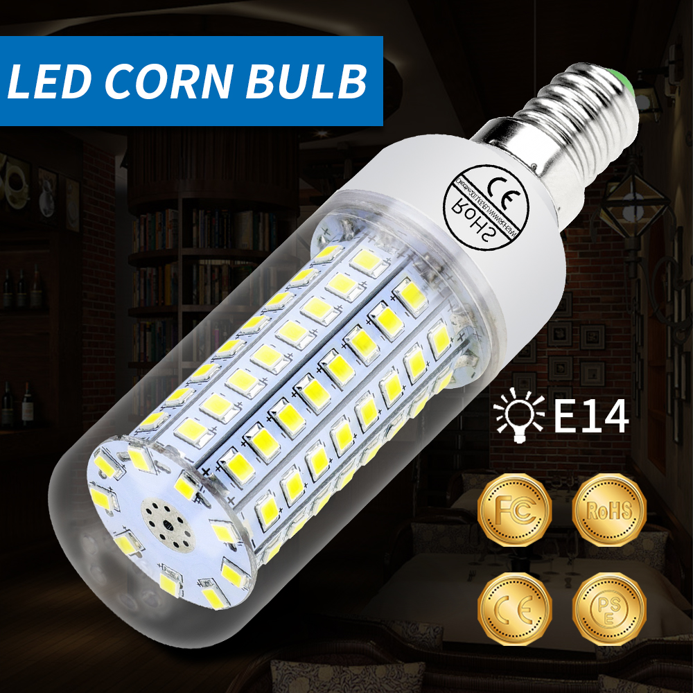 E27 Светодиодная лампа-кукуруза E14 светодиодный лампы в форме свечи лампы GU10 2835 SMD 5730 30 36 48 56 69 89 102 светодиодный s светильник Лампа 15 Вт, 20 Вт, 25 Вт 30 Вт 35 Вт Домашний Светильник ing 220V