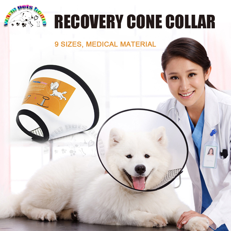 12PCS Pet Protective Collar Dog Neck Cone Recovery Cone Collar for Anti-Bite Lick Surgery Wound Healing Cat Dogs Medical Circle