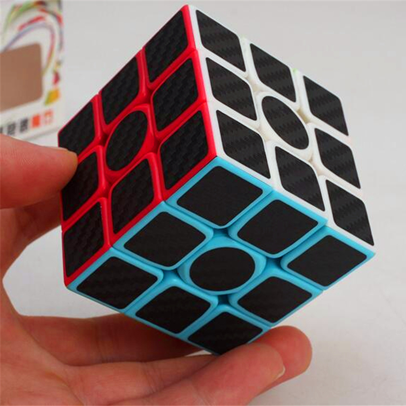 Zcube Carbon Fiber Sticker Magic Cube 3x3x3 Puzzle Cubes  Speed Cubo Square Puzzle Gifts Educational Toys for Children qiyi megaminx magic cube stickerless speed professional 12 sides puzzle cubo magico educational toys for children megamind