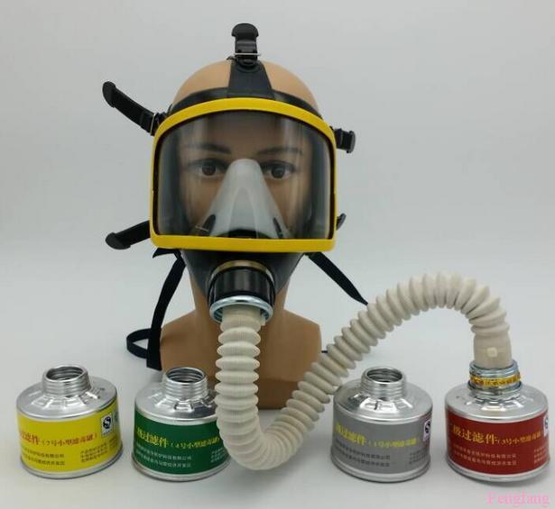 Industrial de seguridad del respirador PC de gel de sílice ratent cara llena respiradores 4 juego de la combinación máscara de gas envío gratuito