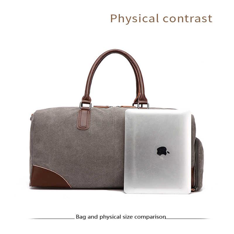 MARKROYAL Canvas torba podróżna europejska i amerykańska moda torba na fitness z magazynem butów Design Travel przenośna torba