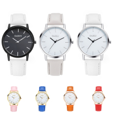 Women Simple Faux Leather Strap Analog Quartz Wrist Watch Fashion Birthday Gift
