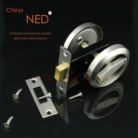 NED Stainless Steel 304 Recessed Invisible Cup Handle Privacy Recessed Door Locks Cabinet Pull Handle Fire