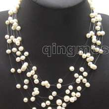 Starriness Pearl Strands Natural White Necklace-Nec5060 Wholesale/retail 6-7mm 8 Round