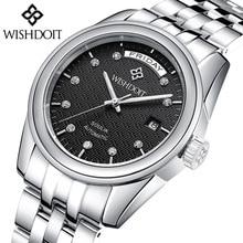 2018 WISHDOIT Top Brand Luxury Business Waterproof Watches Men Automatic Mechanical Wrist Male Clock Zegarek Meski Gift