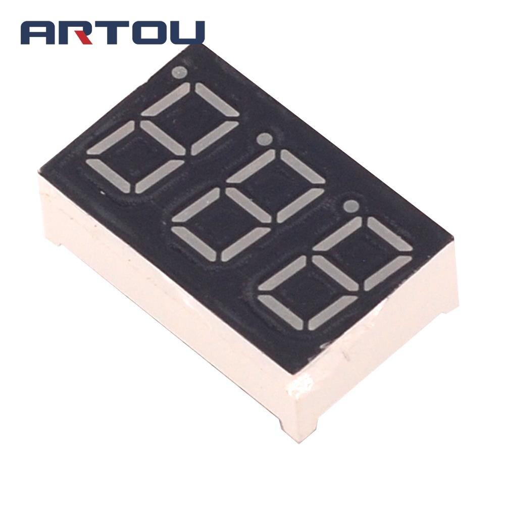 10PCS Common Cathode 3Bit Digital Tube 7 Segment 0.36