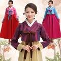 Традиционный Корейский Одежда Хлопок Костюм Ханбок Женщин Платье