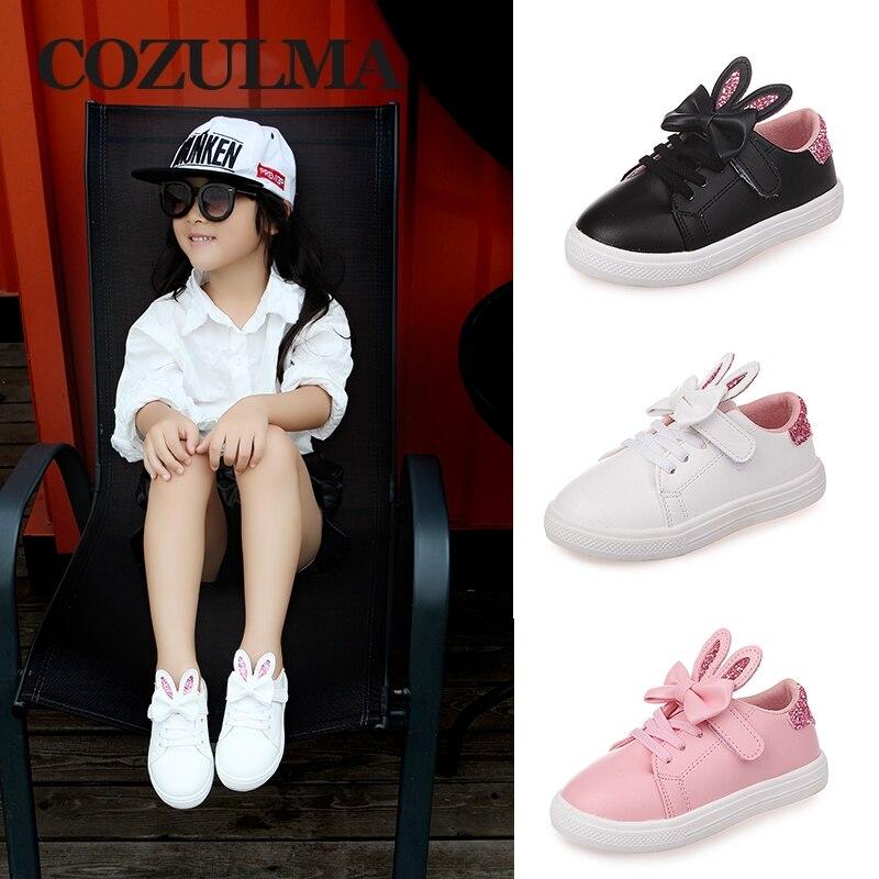 COZULMA Spring Children Sneakers Kids Shoes Girls cekinowe uszy - Obuwie dziecięce - Zdjęcie 4