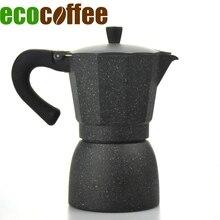 Hohe Qualität 6 Tassen Gezählt Klassische Espresso Aluminium Moka Topf Al Mokka Percolators Farbe Beschichtete Haushalt Kaffeemaschine