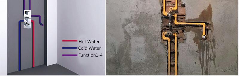 DCAN Bathroom Thermostatic Mixer Valve Brass Chrome Finish Shower Faucet Mixer Valve 3-4 Ways Faucet Bath Faucet Accessories (30)