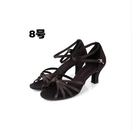20 Styles 6cm Medium Heel Black Gold Silver Cheap Latin Salsa Tango Dance Shoes Cheap Ballroom Shoes Girls Women Ladies in Dance shoes from Sports Entertainment