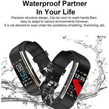 Smart Band Blood Pressure Measurement Pedometer Fitness Tracker Watch Smart Bracelet Women Men Waterproof For Android Ios 1