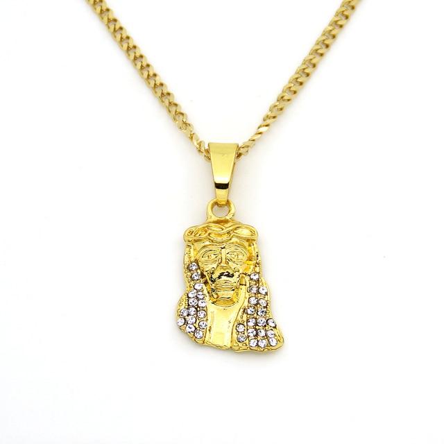 Aliexpress buy 3mm 24inch cuban chain small size gold color 3mm 24inch cuban chain small size gold color hip hop crystal mini jesus pendant necklace aloadofball Choice Image