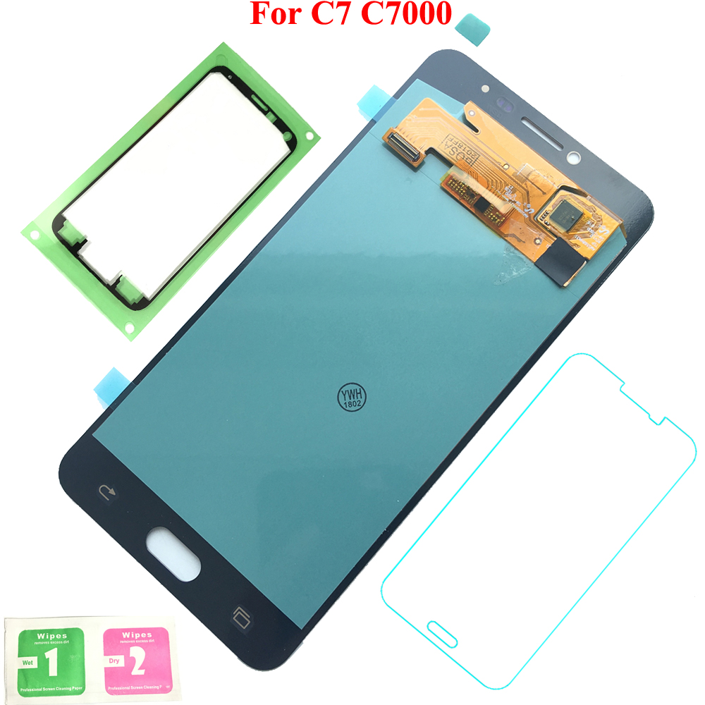FIX2SAILING Display LCD 100% Working Super HD AMOLED LCD Display Touch Screen Assembly For Samsung Galaxy C7 C7000 StickerFIX2SAILING Display LCD 100% Working Super HD AMOLED LCD Display Touch Screen Assembly For Samsung Galaxy C7 C7000 Sticker