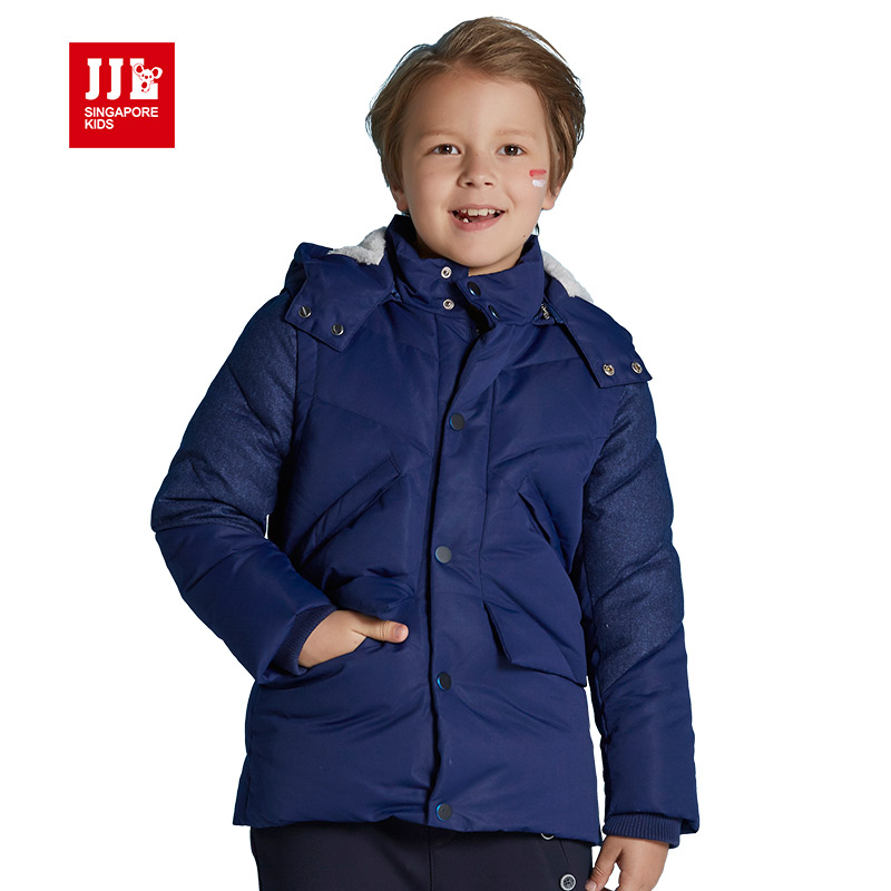winter boys down coat kids jackets warm detachable cap boys hooded coats children jackets kids parka 2016 boys clothing casual 2016 winter jacket for boys warm jackets coats outerwears thick hooded down cotton jackets for children boy winter parkas