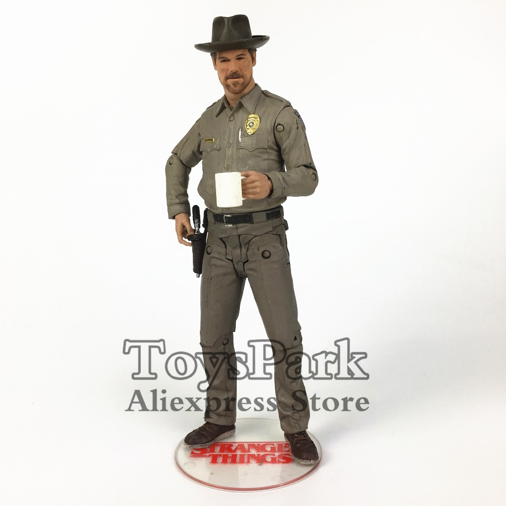 Stranger Things Chief Hopper 7 Action Figure From Mcfarlane Movie TV Netflix Series Statue Toy Doll Model Loose чехол для iphone 4 4s printio saturday night fever