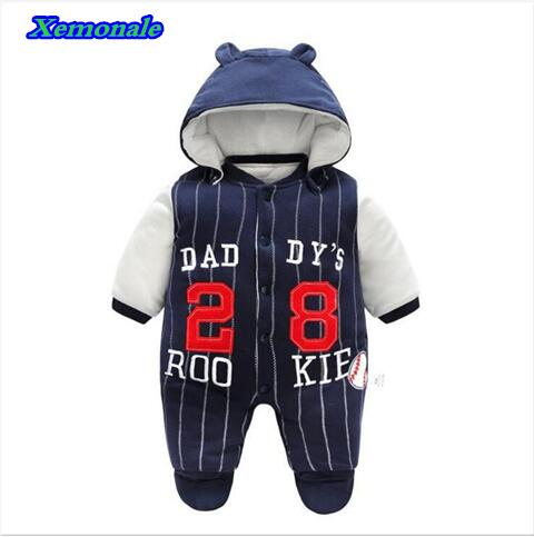 2017 Baby Girls autumn Snow clothes Wear Infant winter clothing jackets for Toddler Boys Rompers cotton Coats newborn snowsuit