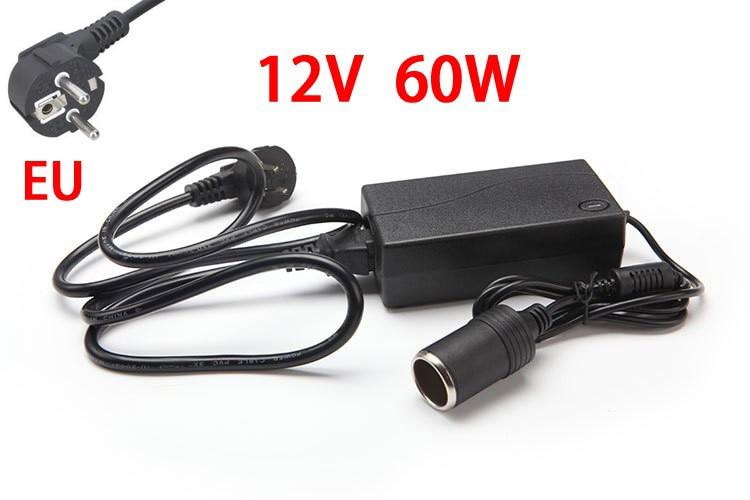 60 W AC 220 V-100 V 100 V 240 V a DC 12 V encendedor de cigarrillos de coche AC/DC convertidor de potencia adaptador inversor DC fuente de alimentación transformador