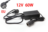 60W AC 100V 240V 100V 220V To DC 12V Car Cigarette Lighter AC DC Power Converter