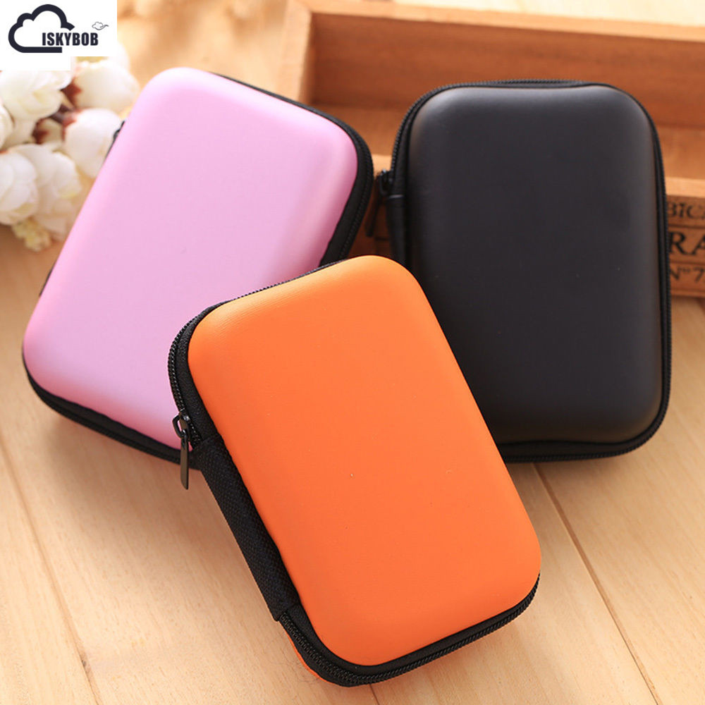 2018 Cool Mini Pocket Hard Case Handy Zipper Bag For Small objects 5 candy COLORS