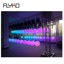 Free shipping Guangzhou supplier sample one led kinetic ball stage light dmx winches for stage decoration(China)