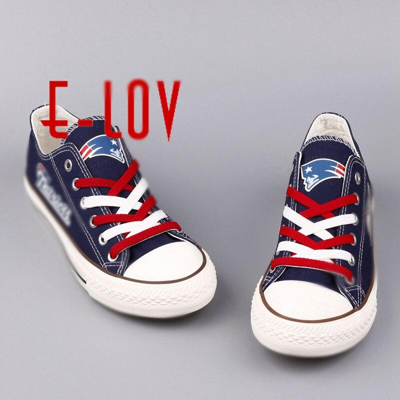 2016 Новинка England Patriots США Премиум команды Футбол парусиновая обувь модные высокие принтом парусиновая обувь для Обувь для мальчиков Для мужч...