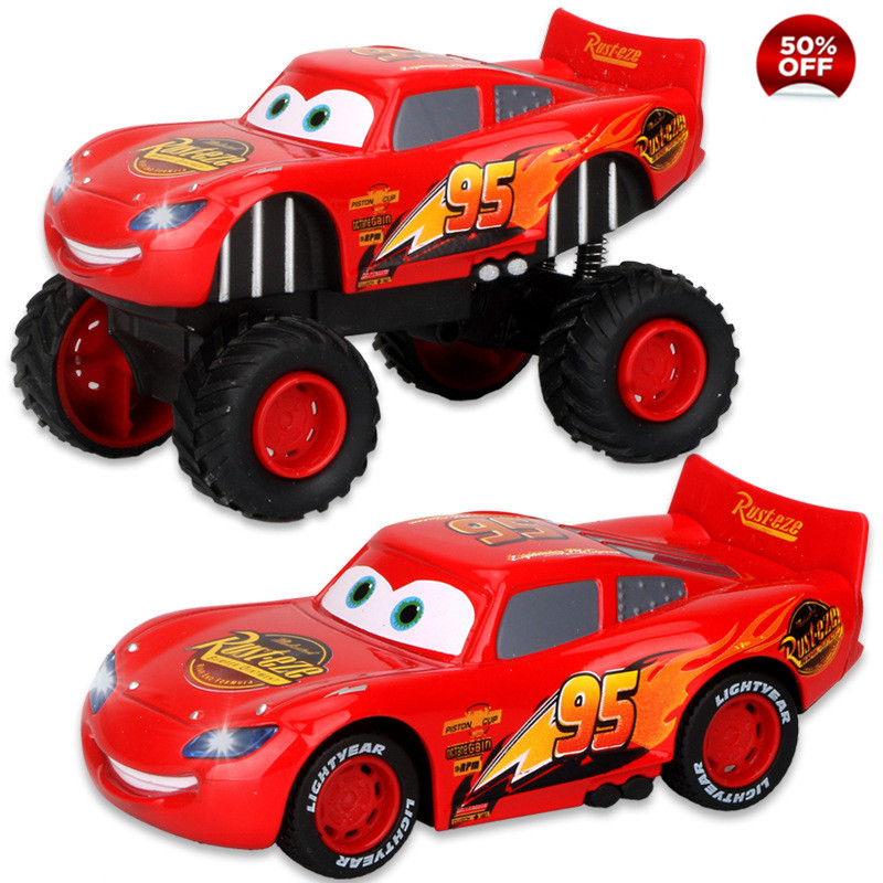 Disney Pixar Cars 3 Toys Lightning McQueen Jackson Storm Pull Back Flashing Music Diecast Model Car Toy Christmas Gift For Kids