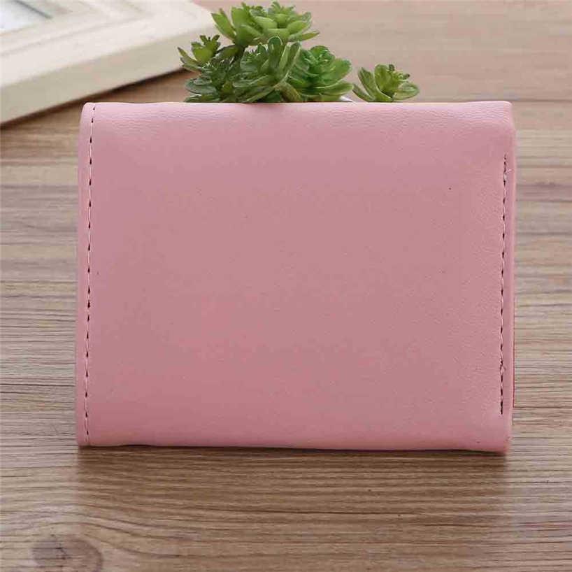 Aelicy/Новое поступление, женский короткий кошелек из искусственной кожи с рисунком для девочек, складной кошелек с застежкой, портмоне для монет, удостоверение личности, держатель для кредитных карт, 5 цветов