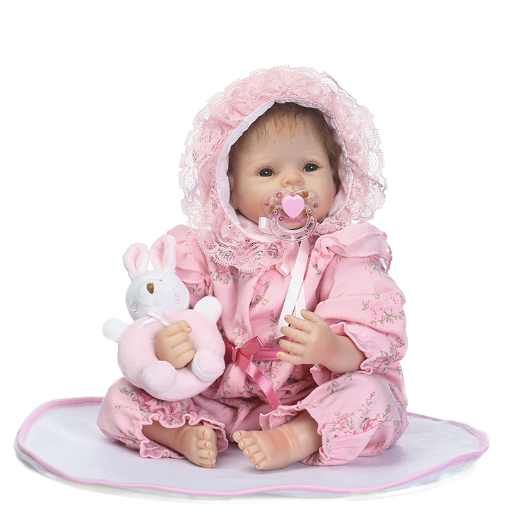 50cm Soft Silicone Reborn Babies Dolls Toy 20inch Newborn Princess Girl Baby Doll Lovely Birthday Gift Child Xmas Present hot sale 2016 npk 22 inch reborn baby doll lovely soft silicone newborn girl dolls as birthday christmas gifts free pacifier