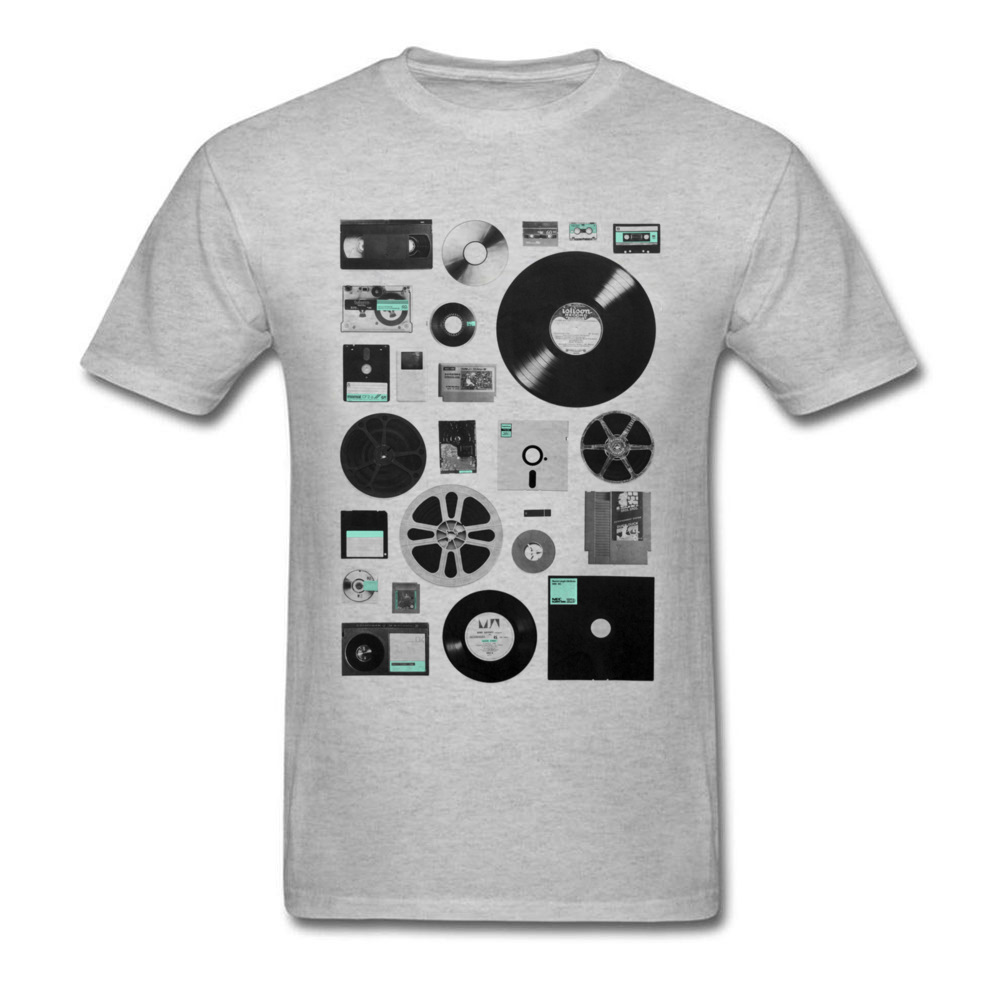 Classic Data Elements T-shirt DJ Records T Shirt Men White Clothing Jazz Cassette Tshirt 3D Tops Cotton Tees Old Music