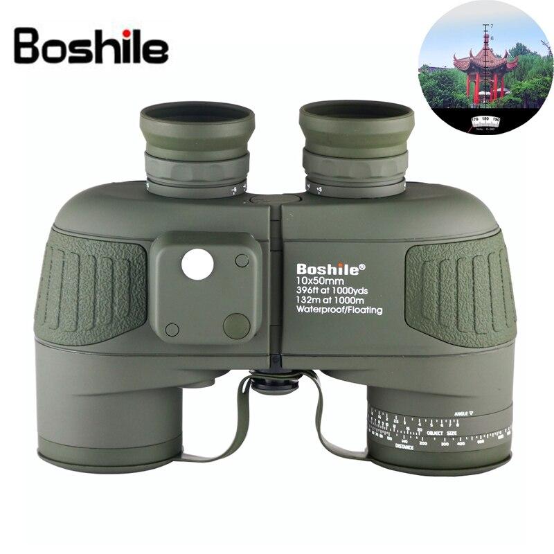 10X50 professionall étanche navigation jumelles HD télescope boussole intégrée et télémètre NOUS rencontrer marine binoculaire