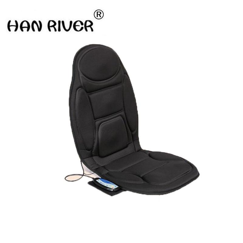 HANRIVER High quality car massager heating car seat cushion vibrator massage cushion lumbar back chair cushion Body massager hanriver the new 2018 body massager car