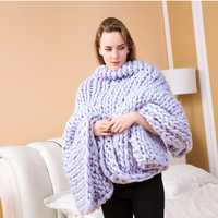 Hot Luxury Sofa Blanket Thick Thread Knitted Solid Color Kids Adult Throw Portable Travel Airplane Warm