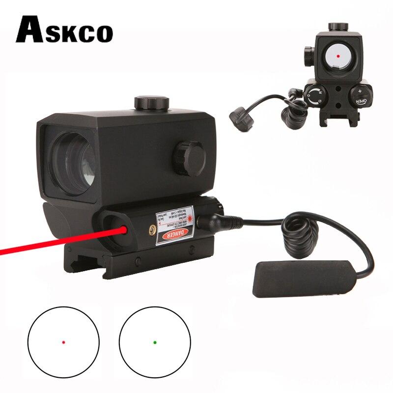 Lunette de chasse tactique rouge point vert portée de visée holographique Refle pour la prise de vue Laser rouge intégré 20mm Rail