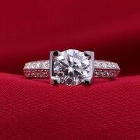 Фирменная новинка оригинальный 2 ct синтетический SONA NSCD Алмаз Свадебные Обручальное кольцо полосы (DFE)