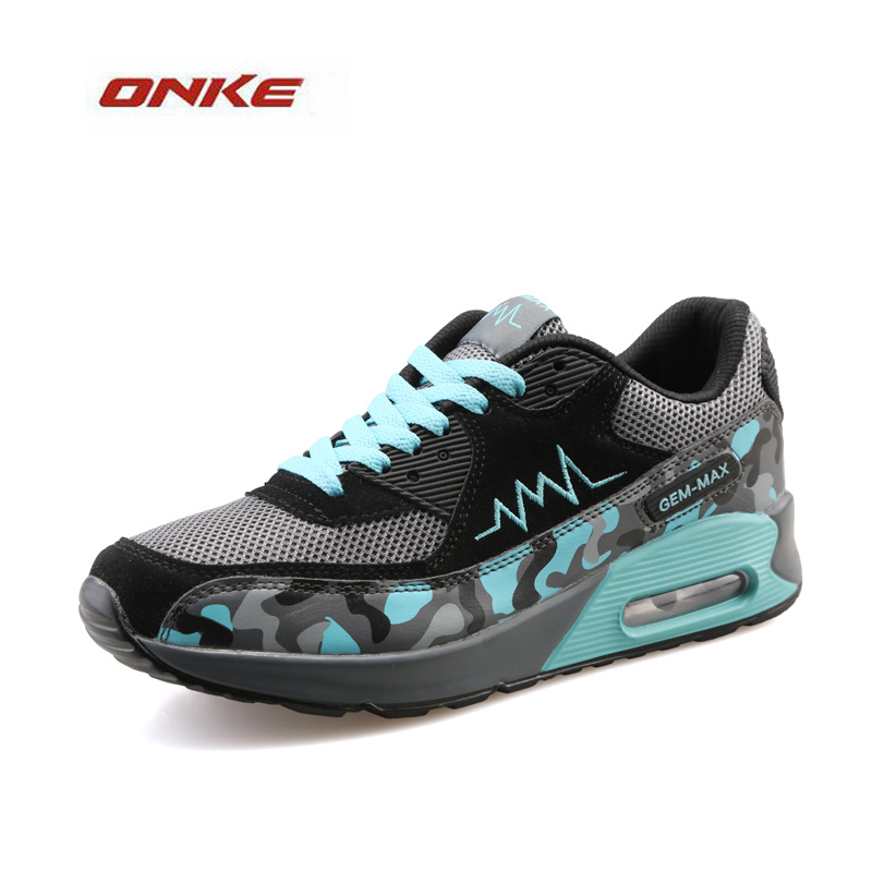 2017 Hot  ONKE Brand Men Women Lovers Outdoor Running Shoes Plus Size Women Sneakers Air  Shoes Sol  Mix Colors Lace Up