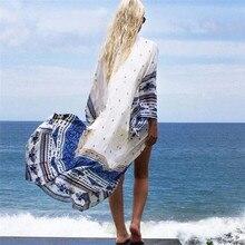 Chiffon Pareo Floral Cape Romantic Bikini Cover Up