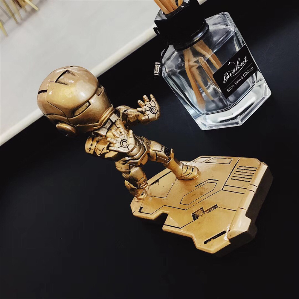 Image 4 - Fashion Mobile Phone Smartphone Desktop Marvel Avengers iron Man For iPhone Samsung HUAWEI For All model Phone Mini Desk Stand-in Phone Holders & Stands from Cellphones & Telecommunications