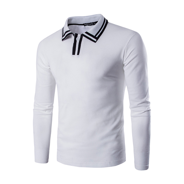 Mens Polo Shirt Long Sleeve 2016 New Arrival Hot Style Casual men Pullover Tun -Dowm Collar All-match Good feeling Male Top PT45