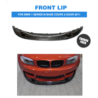 Carbon Fiber Front Lip Spoiler Aprons Bumper Chin for BMW 1 Series M Base Coupe 2 Door 2011 Car Tuning Parts