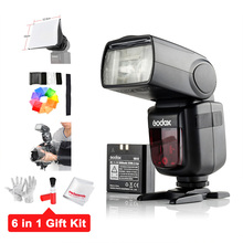 Godox V860II-C GN60 e-TTL HSS 1/8000s Li-ion Battery Speedlite Flash for Canon+Gift (Water-Proof Cover,Cleaning Kit,Diffuser..