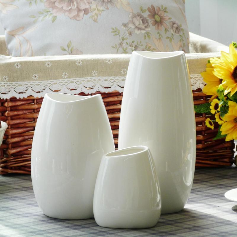 Medium And Small Classic White Ceramic Vase Chinese Arts