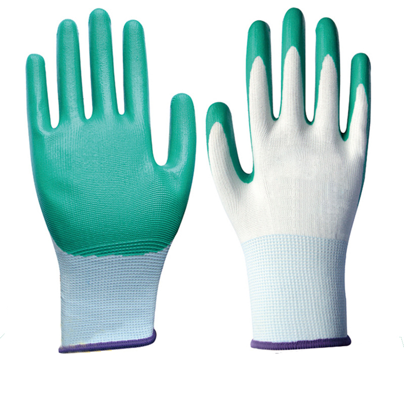 Nitrile Safety Work Glove Chemical Resistant Glove Waterproof Labor Glove Oil Resistant Comfortable Antibiotic Non-slip