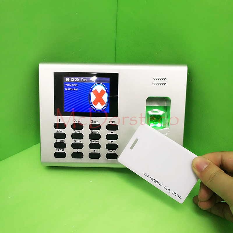 Tcp/ip Build In Backup Battery Time Attendance System Employee Fingerprint Time Management System And Rfid Card Time Clock