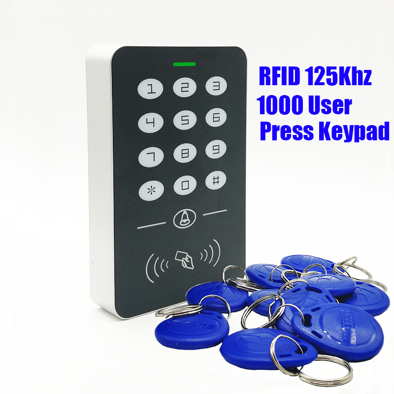 2019 New 125khz RFID Proximity Card Access Control System RFID/EM Keypad Card Access Controller Door Opener Master Controller2019 New 125khz RFID Proximity Card Access Control System RFID/EM Keypad Card Access Controller Door Opener Master Controller