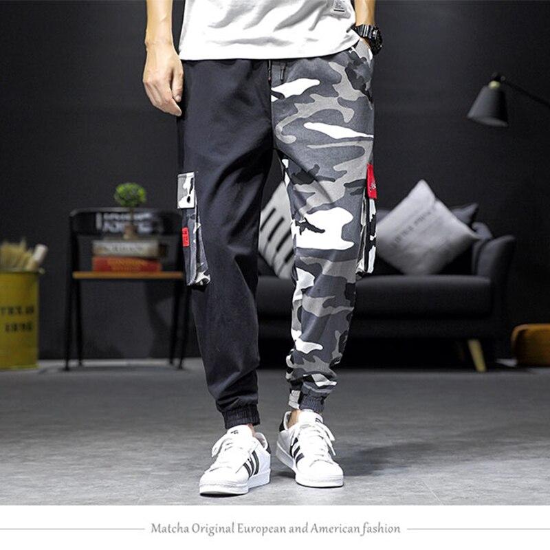 Oversize 5XL hommes poches Cargo Harem pantalon 2019 été Hip Hop décontracté mâle Joggers pantalon mode décontracté Streetwear pantalon