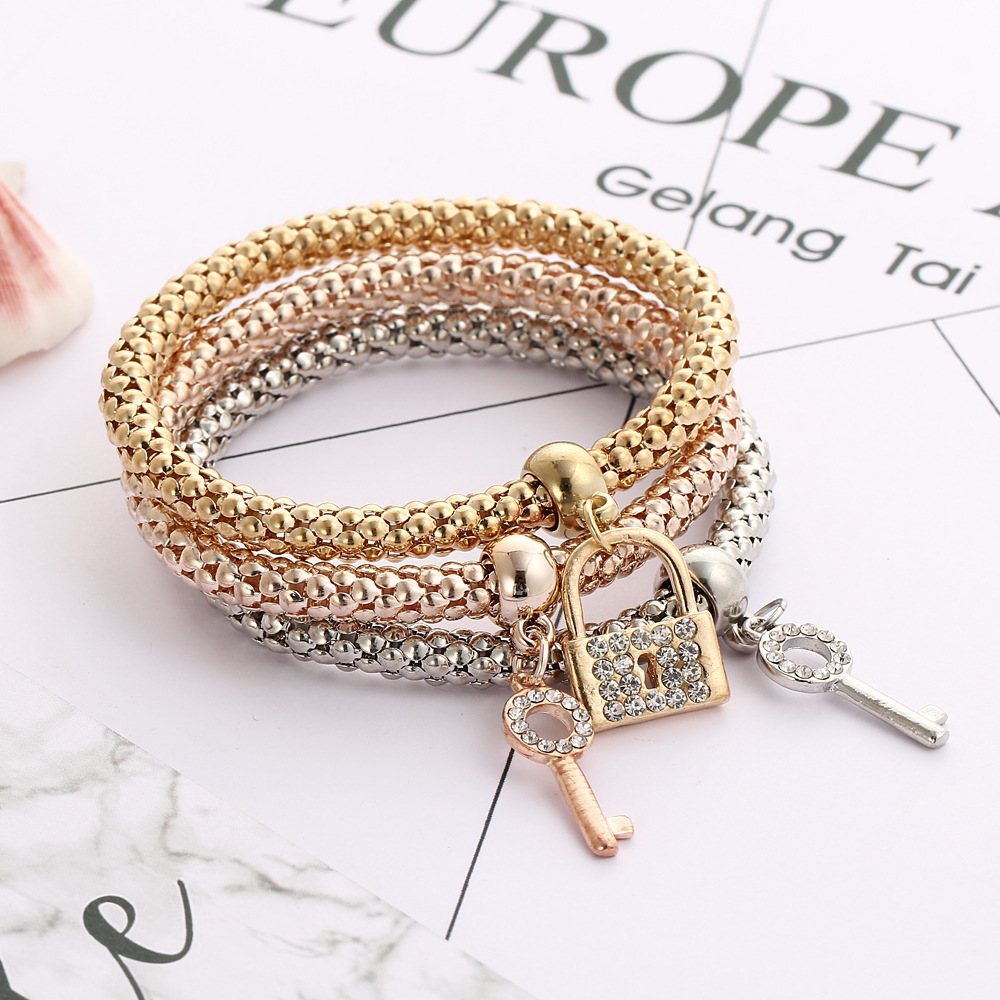 NEW Silver Charm bracelet /& bangles for Women wholesale fashion bracelet