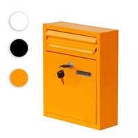IdYllife Eisen Mailbox Garten Liefert Haus hängende Post Mail Box Abschließbar mit Schlüssel Brief Box Lockset Wasserdichte Wand Mouonted